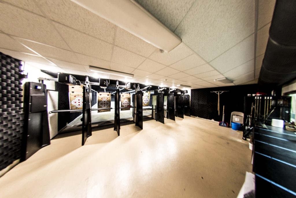Our indoor range is heated with motorized targets